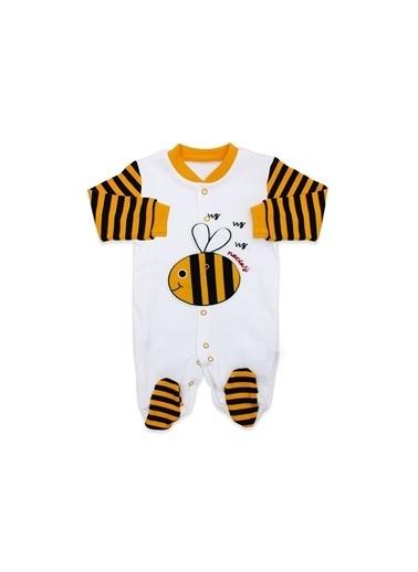 By Bebek Odam Yeni Model Arı Bereli Bebek Tulumu Renkli